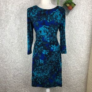 Chaps Floral Print Midi Dress   XL